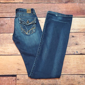 BKE Buckle Madison Bootcut Size 26 Stretch Flaps